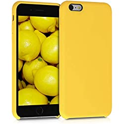 kwmobile Coque Apple iPhone 6 Plus / 6S Plus - Coque pour Apple iPhone 6 Plus / 6S Plus - Housse de téléphone en Silicone Miel