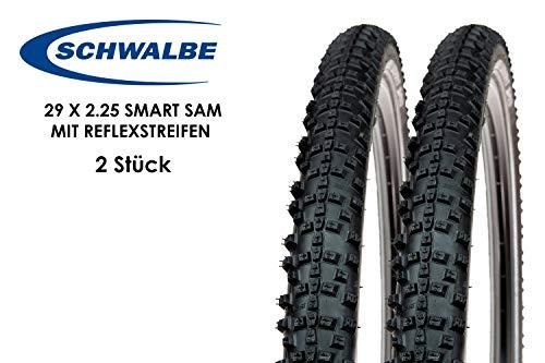 2 Stück 29 Zoll Schwalbe SMART SAM Fahrrad Reifen 57-622 Reflex 29 x 2.25 MTB Tire Mantel Decke