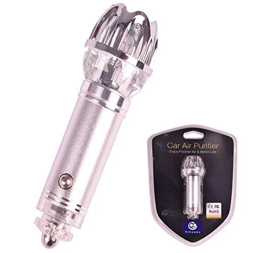 kihappy Auto Filter Negative Ionisator tragbar Lufterfrischer Luftreiniger für jeden Automarke LKW oder Wohnmobil-(Silber)