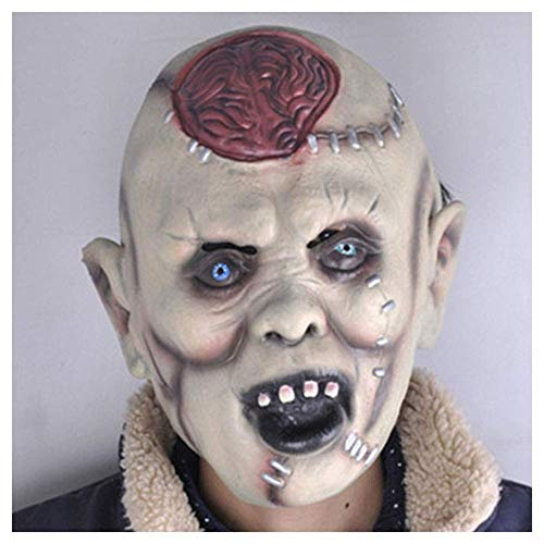 or Ghost Gesicht Gehirn Maske Latex Kopf Mumie Scary Gesicht Zombie Dance Party Leistung Requisiten ()
