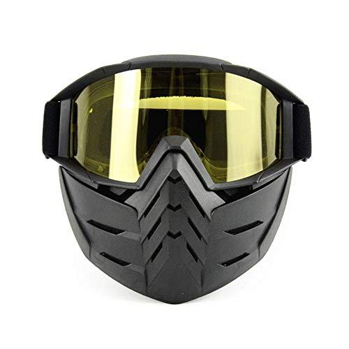 lennonsi Occhiali retrovisori Esterni per Casco Moto Harley Mask Che spazza Gli Occhiali da St