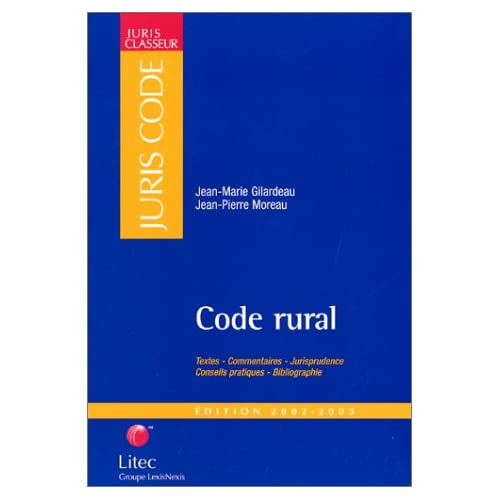 Code rural 2002-2003 (ancienne édition)