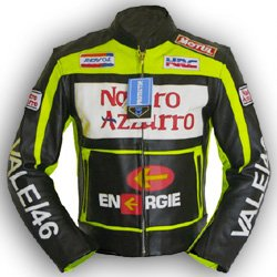 4LIMIT Sports Biker Motorradjacke Valentino Rossi Lederjacke Motorrad Jacke
