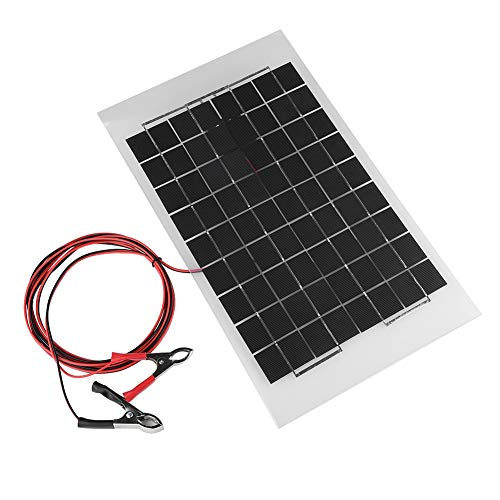 Vbestlife Cargador Panel Solar Alta Potencia Impermeable,Policristalino