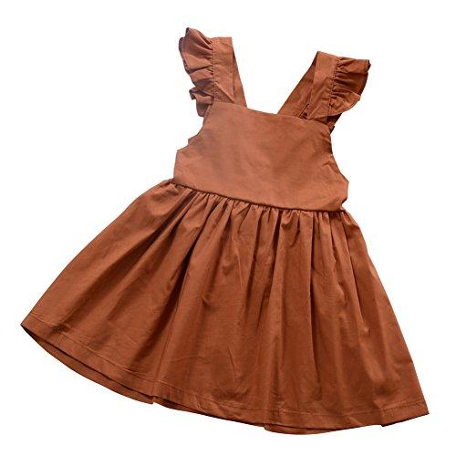 Mädchen Rüschen Kleid, süße kleine Mädchen Prinzessin Kleid, Sommer Party Kleid, Bowknot Strandkleid (Kinder Süßes Kleid)