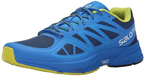 Salomon L37937800, Zapatillas de Trail Running para Hombre, Azul (Midnight Blue / Bright Blue / Gecko Gre), 44 2/3 EU