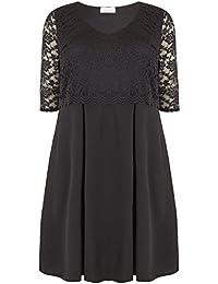 aedf7ebe5b6 Yours Clothing Women s Plus Size London Lace Midi Dress