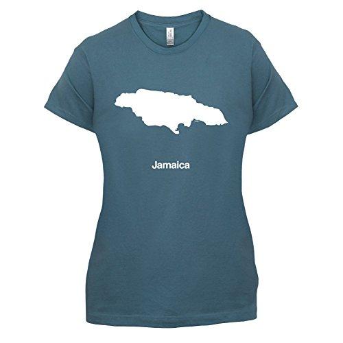 Jamaica / Jamaika Silhouette - Damen T-Shirt - 14 Farben Indigoblau