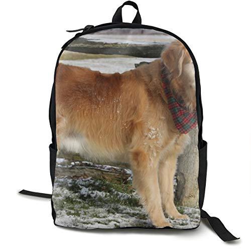 Hund, Labrador, Bandana, für die Schule, Schulranzen, Büchertasche, Reisen, Laptoprucksack, lässiger Tagesrucksack für Kinder, Studenten, Erwachsene -