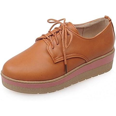 Primavera scarpe piattaforma/Con scarpe con la suola spessa/Prendere Inghilterra scarpe da donna/Studentesse Scarpe