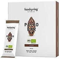 foodspring Orgánica Paleo Bar pack de 12, Cocoa, Tal y como todas las barritas de frutas deberían ser
