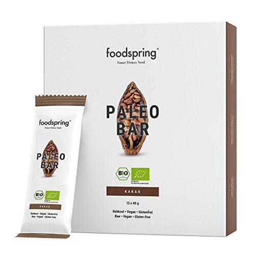 Foodspring bio paleo bar pacchetto da 12, cacao, così come tutte le barrette alla frutta dovrebbero essere