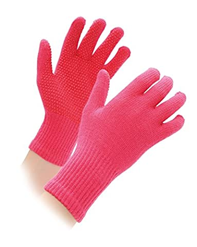 Shires Equestrian Kid's Sure Grip Gloves - Pink,