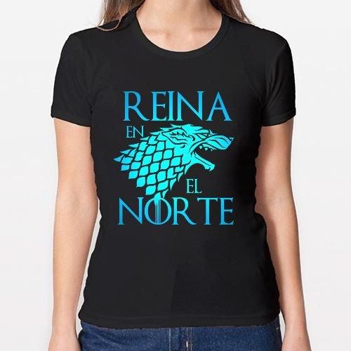 Positivos Camisetas Mujer/Chica - diseño Original Reina en el Norte