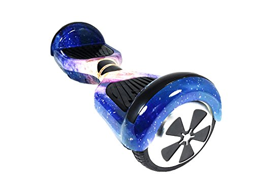 \'Hoverboard Elektro Scooter Two Wheels Elektro Overboard, Balance Scooter Skateboard mit LED & Bluetooth, zwei Rollen 6.5 Galaxy No.20 mit Zertifizierung UL 2272