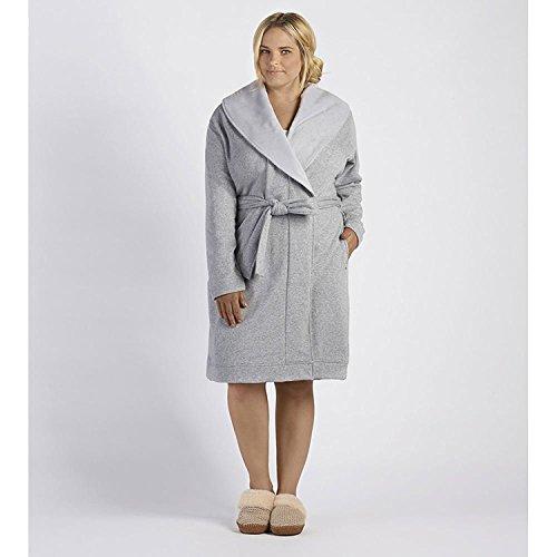 UGG Women's Plus Size Blanche Robe Seal Heather Robe 1X (Womens Plus Size Roben)