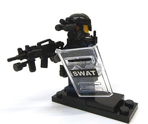 Modbrix 8236 - 2 Stück Custom SWAT Minifiguren aus original Lego© Teilen thumbnail