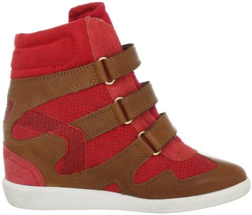 Bullboxer MA133805030N-A10 Damen Fashion Sneakers Beige (Noce/Arragosta/Rosso)