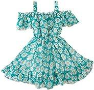 Polwer Infant Baby Girl Kids Sleeveless Stampa Princess Dress Abbigliamento Vestito Bambina Cerimonia Elegante