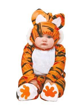 Baby Tigerkostüm für Kinder Babykostüm Tiger Kostüm Tierkostüm Safari Gr. 74-92, Größe:86/92 (Katze Baby Kostüm)