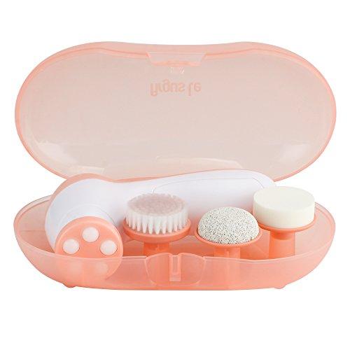 Argus Le Facial cepillo 4en 1multifunción portátil Facial Cuidado de la piel facial masajeador cara cepillo de limpieza con 4cabezas de cepillo