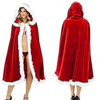 Miss Claus Vestido Traje de Mujer Etapa Rendimiento Tema Fiesta Cosplay Santa Sweetie Disfraz con Capucha para Mujer