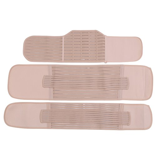 Zerodis 3-in-1 Belly Band postnatale, Post-Partum Belly Wrap Belt Support Cintura Addominale Post Gravidanza Recupero Cintura Dimagrante Corpo Shapewear per Le Donne(M)