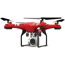 Kolylong Quadcopter Drone Camera, 2017 Nouveau 2.4G Altitude Hold HD Camera Quadcopter RC Drone 2MP WiFi FPV Live Helicopter Hover (31.5*31.5*10.5cm, Rose)