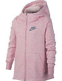 Nike G NSW Hoodie FZ PE Chaqueta, Niñas, Rosa (Pink/htr/