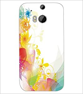 HTC ONE M8 COLORFUL LEAFS Designer Back Cover Case By PRINTSWAG