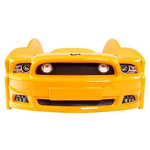 KAGU Autobett Kinderbett Jungendbett Juniorbett im Design eines echten Autos auch mit LED-Beleuchtung erhältlich. Praktisches und bequemes Bett für Ihr Kind. - 4