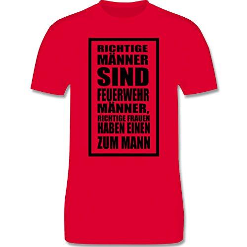 Feuerwehr - Feuerwehr - Richtige Männer - Herren Premium T-Shirt Rot