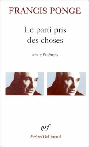 """<a href=""""/node/61243"""">Le Parti pris des choses, Douze petits écrits, Proêmes</a>"""