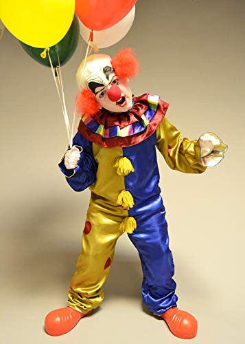 Magic Box Int. Kinder Halloween Deluxe Hell Scary Killer Clown Kostüm Large (10-12 - Scary Killer Clown Kostüm