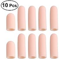 Rosenice - Juego de 10 protectores de dedo para dedos de los pies de silicona