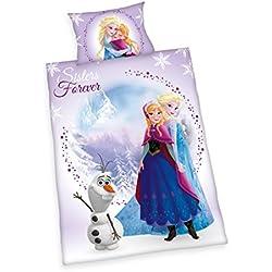 Herding Frozen - Juego de Cama Infantil de Franela, algodón,, 100 x 135 cm