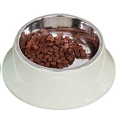 SqsYqz Edelstahl Pet Bowl Rutschfeste Unterseite Hund Katze Trinknapf Pet Special Hund Und Hundenapf Futternapf Eine Schüssel,Green (Besteckset Platz)