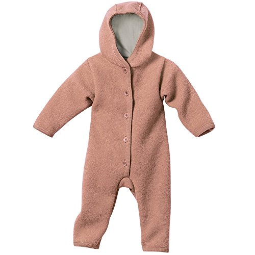 Disana 361XXXX - Walk-Overall Wolle , Rosé, 74/80 6-12 Monate - Monate Overall 9