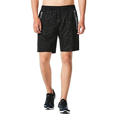 feiXIANG Herren Strandhose Männer Pants Trocknen schnell Laufen Kurze Hose Drucken Strand Surfen Schwimmen Jogging Laufhose ()