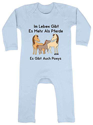 HARIZ Baby Strampler Im Leben Gibt Es Mehr Als Pferde Es Gibt Auch Ponys Tiere Kindergarten Plus Geschenkkarten Himmel Hell Blau 12-18 Monate (Himmel Kostüm Gibt)
