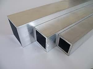 B&T Metall Aluminium Rechteckrohr 025x025x02 mm aus AlMgSi0,5 F22 schweissbar eloxierfähig Länge ca. 1 mtr. (1000 mm +/-5 mm)