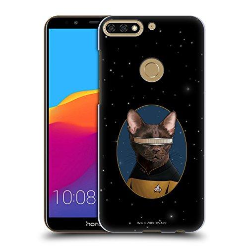 Head Case Designs Offizielle Star Trek Geordi La Forge Katzen TNG Ruckseite Hülle für Huawei Honor 7C/Enjoy 8 (Forge Katze)