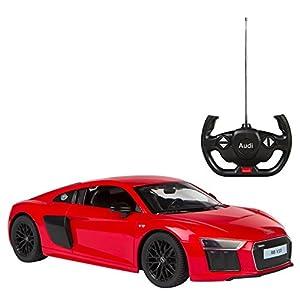 Rastar - Coche teledirigido 1:14 Audi R8 V10, color rojo (ColorBaby 85185)
