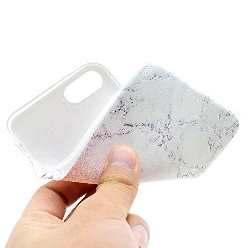 Coque iPhone 5 Marbre, iPhone SE Silicone Arrière Étui, Coque iPhone 5S Silicone, Moon mood® TPU Gel Souple Coque de Protection pour Apple iPhone SE/5/5S 4.0 pouces Slim Case Cover Mince Couverture Ho 2-Marbre