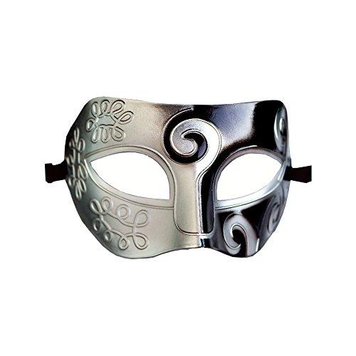 Römische griechische venezianische Maske, Maskenball, Halloween, Kostüm, Ball, Party-Dekoration, für Herren und Damen Schwarz