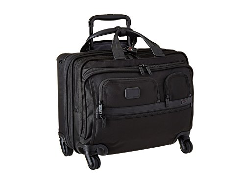 Tumi Alpha 2 4 Wheeled Deluxe Brief with Laptop Case 28L, Black - 026627