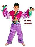 Llopis Disfraz de Cubano Morado (Talla Infantil, 1 a 3 Años)