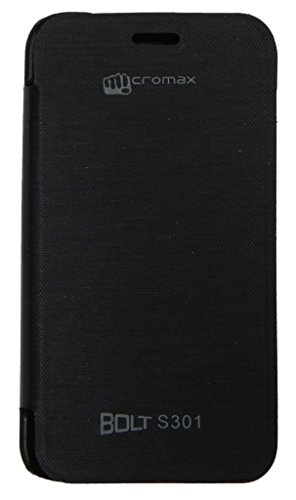 InFluid Black Flip Cover for Micromax Bold S301