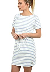 BlendShe ENA Damen Sweatkleid Sommerkleid Kleid Mit Rundhals Aus 100% Baumwolle, Größe:S, Farbe:Cashmere Blue (20243)