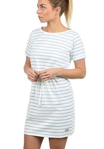 Blend She Ena Damen Sweatkleid Sommerkleid Kleid Mit Rundhals Aus 100% Baumwolle, Größe:XXL, Farbe:Cashmere Blue (20243) (Cashmere-arm)